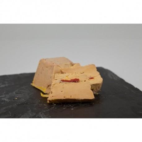 Foie gras IGP Sud-Ouest aux piquillos de Navarre terrine de 400 grs (Biraben,France)