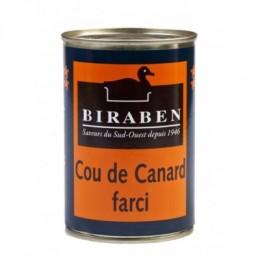 Cou de canard farci au foie de canard (Biraben,France)
