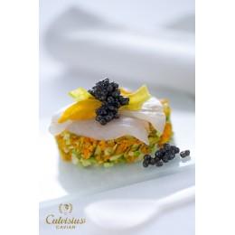 Caviar Tradition d'esturgeon blanc ( Acipenser transmontanus, Italie)