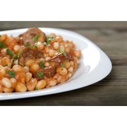 Haricots cuisinés à la graisse de canard (Biraben,France)