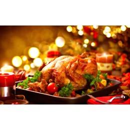 Dinde de Noël prête à cuire (France)