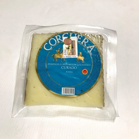 Quart de fromage de brebis Manchego DOP 6 mois d'afffinage ( Sélection Charcuterie, Espagne)
