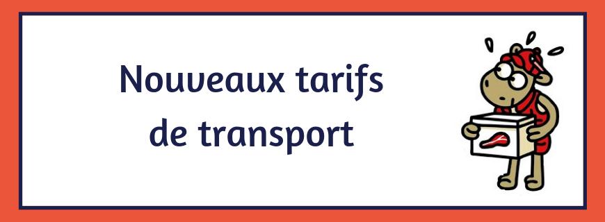nouveaux tarifs de transport