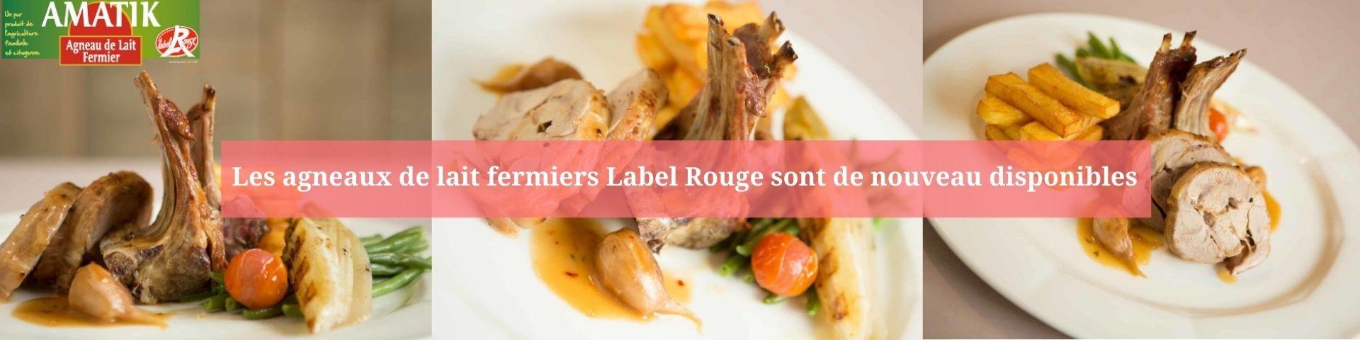 Agneau de lait de Pyrénées Label rouge